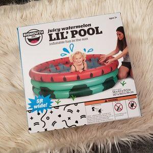 BIGMOUTH Juicy Watermelon inflatable kiddie pool